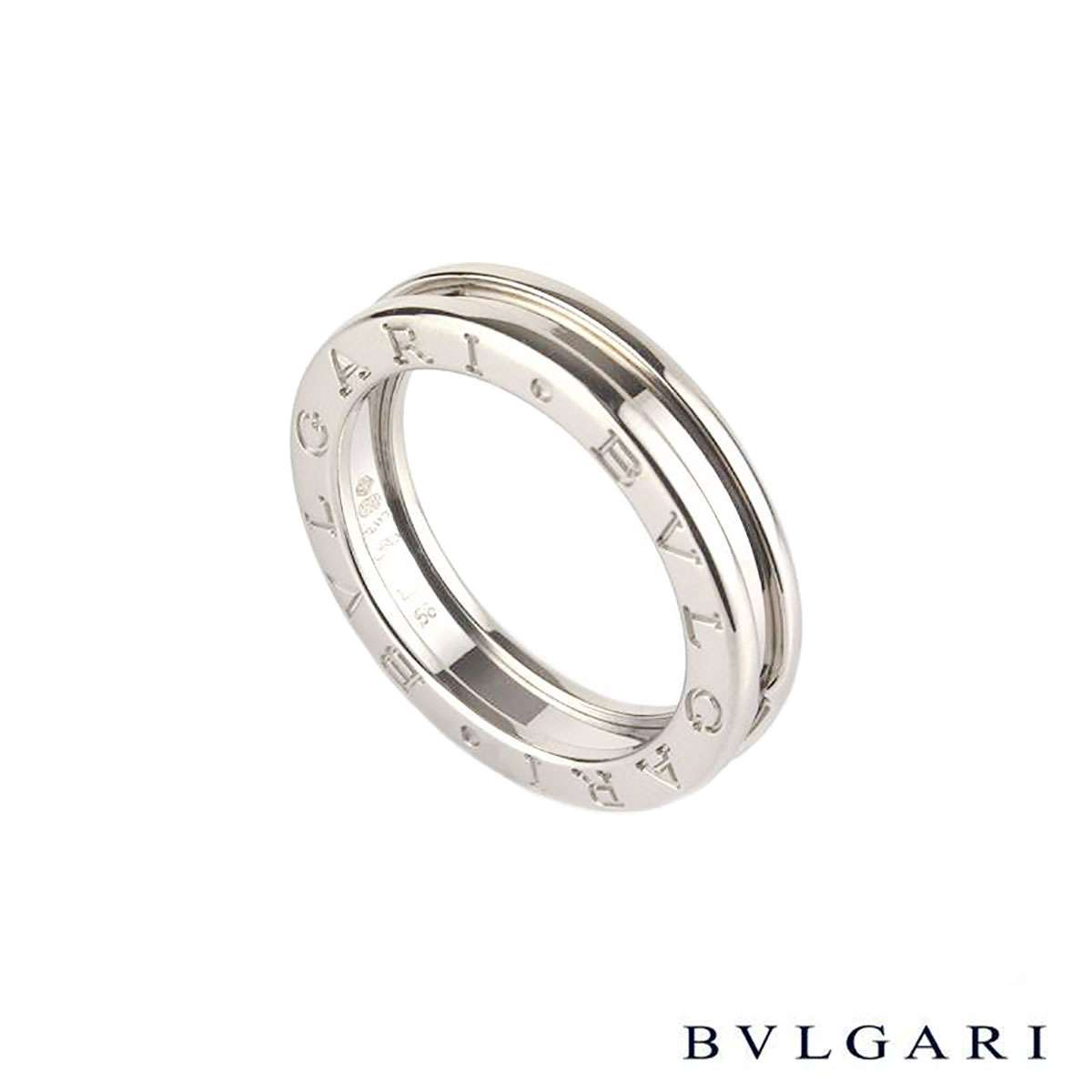 Bvlgari 18k white gold B.zero1 Ring Size 50 AN852423